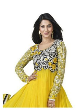 Fabfiza Embroidered Georgette Semi Stitched Salwar Suit_FB-6263