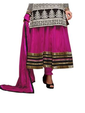 Fabfiza Embroidered Georgette Semi Stitched Salwar Suit_FBAS-902