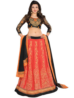 Fabfiza Embroidered Georgette Semi Stitched Anarkali Suit_FBET-61006