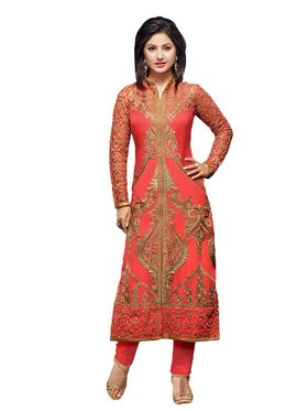 Fabfiza Embroidered Georgette Semi Stitched Straight Suit_FBHN3-55010