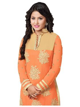 Fabfiza Embroidered Georgette Semi Stitched Straight Suit_FBHN3-55013