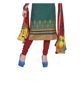 Fabfiza Embroidered Cotton Semi Stitched Straight Suit_FBIM-08
