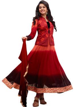 Fabfiza Embroidered Georgette Semi Stitched Anarkali Suit _FBPH14-2033