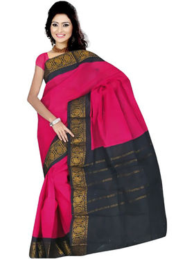 Nanda Silk Mills Embroidered Cotton Saree_FEMINA4048