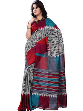 Pack Of 5 Florence Pochampalli Printed Sarees