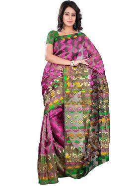 Florence Bhagalpuri silk Printed  Sarees FL-10755-D