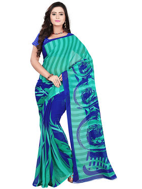 Florence Faux Georgette  Printed  Sarees FL-10971
