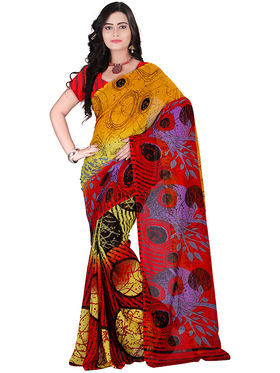 Florence Faux Georgette  Printed  Sarees FL-10974