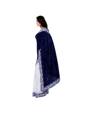 Florence Embroidered  Velvet Sarees -FL-11205