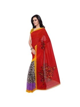 Florence Faux Georgette Printed  Sarees -FL-11214
