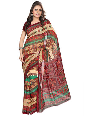 Florence Faux Georgette  Printed  Sarees FL-3179-B