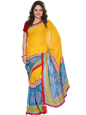 Florence Faux Georgette  Printed  Sarees FL-3187-C