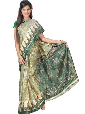 Pack of 5 Florence Printed Art Silk Saree -fs13
