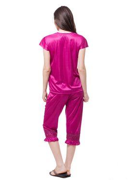 Pack of 6 Fasense Satin Plain Nightwear - DP115 D