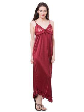 Pack of 6 Fasense Satin Plain Nightwear - DP116 A
