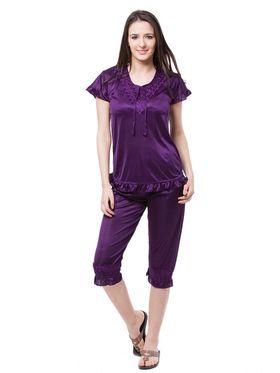Pack of 6 Fasense Satin Plain Nightwear - DP116 E
