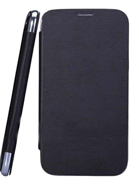 Feomy Flip Cover for Xolo Q700   Black available at Naaptol for Rs.156