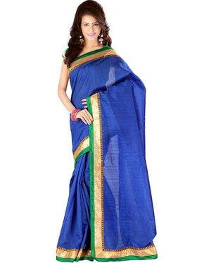 Florence Art Silk Embriodered Saree - Blue - FL-10177