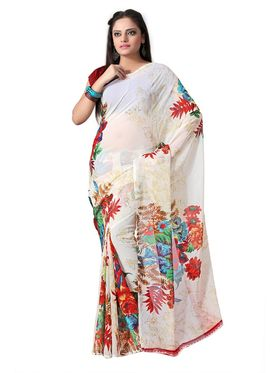 Pack of 3 Florence Printed Faux Georgette Saree - FL_12