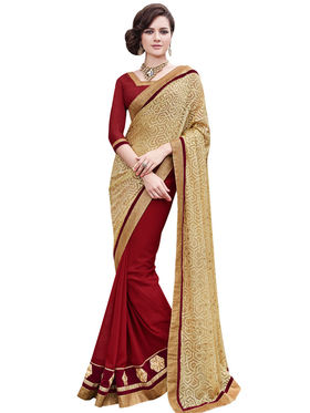 Bahubali Georgette and Brasso Embroidery Saree -GA20031