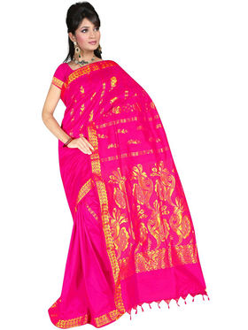 South Silk Handloom Saree -Gkss 1005