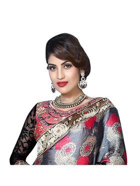 Khushali Fashion Embroidered Georgette Half & Half Saree_KF48
