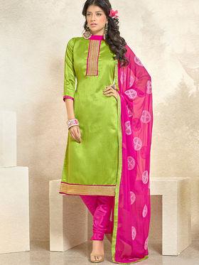 Viva N Diva Banglori Silk Patch Work Unstitched Dress Material Gazee-8001