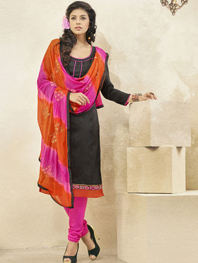 Viva N Diva Banglori Patch Work Unstitched Dress Material Gazee-8012