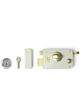 Godrej Ultra Twinbolt 1Ck Rim Lock - Beige brass