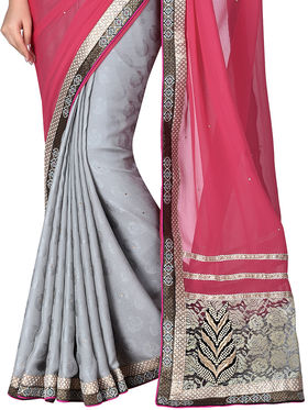 Shonaya Embroidered Jacquard Sarees -Hiimx-6030