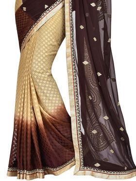 Shonaya Embroidered Georgette Sarees -Hiimx-6046-Black