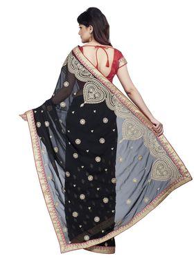 Shonaya Designer Embroidered Georgette Saree - HIIMX-6046