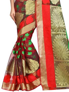 Shonaya Woven Banarasi Art Silk  Sarees -Hikbr-Banarsi-2-Red