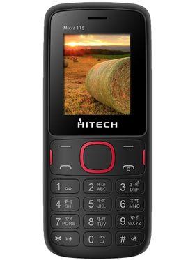 Hitech Micra 115 Dual Sim Mobile - Black & Red