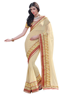 Branded Chiffon Printed Saree -HT70120