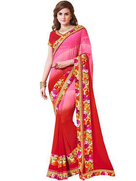 Indian Women Designer Printed Georgette Saree -Ic11219