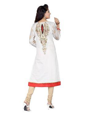 Ishin  Georgette Embroidered Kurti - White_INDSL-PRIYA