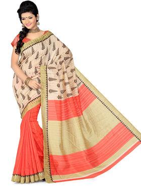 Ishin Bhagalpuri Silk Printed Saree - Multicolor - ISHIN-1779