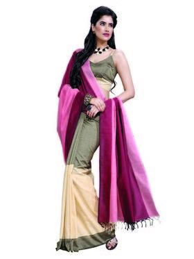 Ishin Cotton Printed Saree - Multicolour-MFCS-Angel