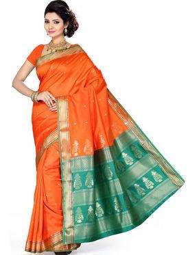 Ishin Art Silk Embroidered Saree - Multicolour_SNGM-1721