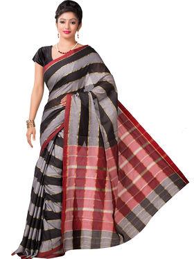 Ishin Cotton Printed Saree - Multicolor - SNGM-2450