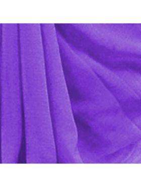 Khushali Fashion Georgette Plain Saree(Purple)_JAZZ514