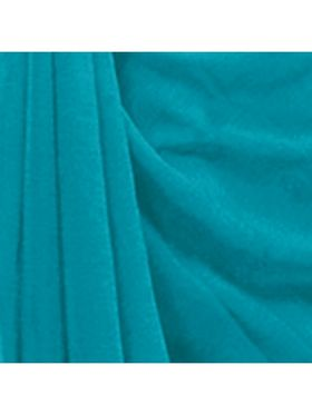 Khushali Fashion Georgette Plain Saree(Turquoise)_JAZZ521