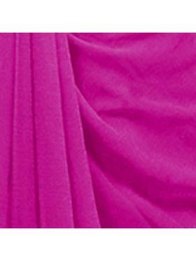 Khushali Fashion Georgette Plain Saree(Pink)_JAZZ541