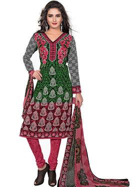 Khushali Fashion Crepe Printed Dress Material -Kpplpl8002