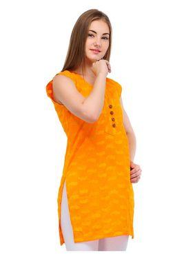 Arisha Cotton Printed Kurti KRT6014_Ylw