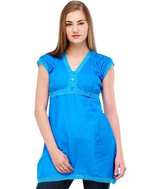 Arisha Cotton Printed Kurti KRT6027_Blu
