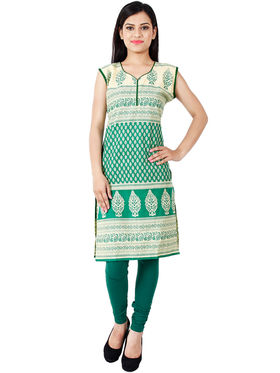 Arisha Cotton Printed Kurti KRT6034_Grn