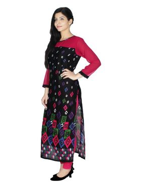 Arisha Solid Rayon Long Straight Kurti -ars60