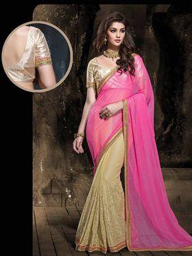 Viva N Diva Chiffon Floral Embroidery Saree -Kalki-03-3009